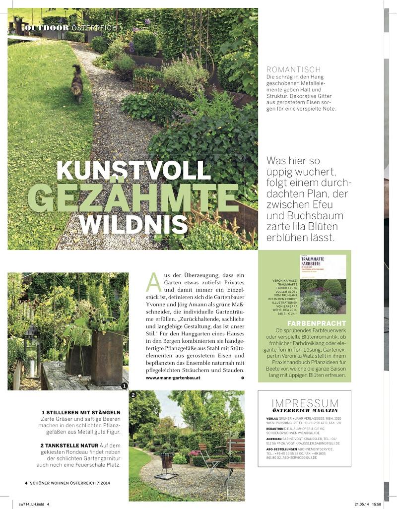 Schöner Wohnen Ausgabe Juli 2014